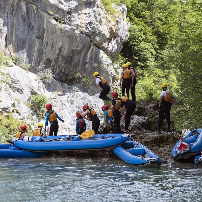 Kayaking Mreznica river tour Degenija Tours